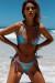 Laguna Classic Blue Pink Shimmer Bikini Top & Panama Classic Blue Pink Shimmer Bikini Bottom
