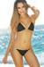 Black & Gold Two-Tone Triangle Top Classic Scrunch Bikini