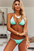 Mint Triangle Bikini On a Chain Top & Mint Cheeky Micro Bikini On a Chain Bottom