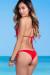 Solid Red Triangle Top & Cheeky Micro Scrunch Bun® Bottoms Bikini
