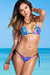 Acapulco Fantasy & Black Print Cheeky Micro Scrunch Bottoms & Triangle Top Bikini