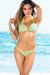 Belize Reversible Swimwear Neon Yellow & Abstract Animal Print Sexy Single Rise Bikini