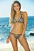 Vegas Silver & Black Triangle Top Single Rise Scrunch Bun® Sexy Sequin Bikini