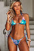 Blue Pink Shimmer Triangle Top & Blue Pink Shimmer Brazilian Thong Bottom