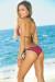 Vegas Fuchsia & Black Triangle Top Single Rise Scrunch Bun® Sexy Sequin Bikini