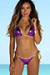 Laguna Grape & Gold Triple Chain Bikini Top & Panama Grape & Gold Triple Chain Bikini Bottom