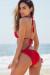 Beach Rose Red Bikini Top & Hibiscus Red Bikini Bottom