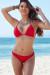 Solid Red Triangle Top & Sexy Brazilian Cut Thong Bikini