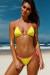 Neon Yellow & Pink Polka Dot Triangle Bikini Top & Neon Yellow & Pink Polka Dot Classic Bikini Bottom
