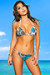 Belize Reversible Swimwear White & Teal Paisley Print Sexy Single Rise Bikini