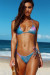 Blue Pink Shimmer Triangle Top & Blue Pink Shimmer Classic Scrunch Bottom