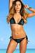 Versailles Blue Leopard & Black Triangle Top Scrunch Bottom Sexy Lace Bikini