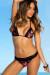 Laguna Single Edge Lace Black Rose & Black Bikini Top & Maui Lace Band Black Rose & Black Scrunch Bikini Bottom