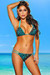 Belize Reversible Swimwear Aqua & Blue Leopard Print Sexy Single Rise Bikini