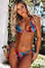 Black Tropical Triangle Top & Black Tropical Classic Scrunch Bottom