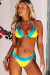 Yellow & Blue Edge Lace Triangle Top & Yellow & Blue Classic Lace Band Bottom