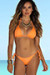 Surfside Sexy Solid Neon Orange Triangle Top Single Rise Scrunch Bun® Bikini