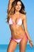 Sedona White & Pink Triangle Top Sexy Micro Rise Polka Dot Bikini