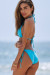 Aqua Triangle Top & Aqua Full Coverage Scrunch Bottom