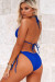 Royal Blue Triangle Top & Royal Blue Full Coverage Scrunch Bottom