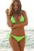 Laguna Solid Neon Green Triangle Bikini Top & Classic Scrunch Bottom Swimsuit