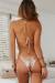 Champagne Sequin Triangle Top & Champagne Sequin Micro Bikini Bottom