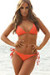 Laguna Solid Coral Orange Triangle Bikini Top & Single Rise Scrunch Bottom Swimsuit
