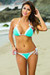 Paris Mint Green & White Triangle Top Scrunch Bottom Sexy Lace Bikini Swimsuit