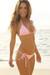 Laguna Solid Baby Pink Triangle Bikini Top & Single Rise Scrunch Bottom Swimsuit