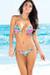 Honolulu Island Tropical Print Triangle Top & Single Rise Scrunch Bun® Bikini