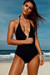 Lolita Black V Neck Halter One Piece Swimsuit