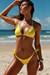 Laguna Solid Yellow Triangle Bikini Top & Classic Scrunch Bottom Swimsuit