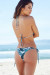 Tropical Palm Print Triangle Top & Tropical Palm Print Cheeky Micro Scrunch Bottom Bikini