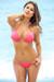 Brazil Bikini on a Chain™ Sexy Neon Coral Triangle Top & Micro Scrunch Bottom