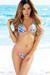 Tahiti Reversible Neon Pink & Blue Hawaii Print Sexy Micro Bikini Swimsuit