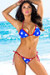Ipanema Red, White & Blue Star Print Triangle Bikini Top & Sexy Thong Bikini