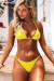 Yellow Triangle Bikini On a Chain Top & Yellow Classic Bikini On a Chain Bottom