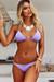Lilac Bikini On a Chain Triangle Top & Lilac Classic Bikini On a Chain Bottom