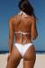 White Triangle Bikini On a Chain Top & White Classic Bikini On a Chain Bottom
