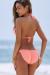 Salmon Triangle Bikini & Salmon Full Coverage Scrunch Bottom