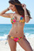 Surfside Sexy Sunset Tropical Print Triangle Top Single Rise Scrunch Bun® Bikini