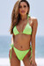 Neon Green Triangle Top & Neon Green Full Coverage Scrunch Bottom
