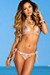 Vegas Rose Gold & Blush Triangle Top Single Rise Scrunch Bun® Sexy Sequin Bikini
