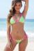 Sedona Neon Green & Pink Triangle Top & Micro Rise Sexy Polka Dot Bikini