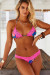 Royal Paradise & Pink Edge Lace Triangle Top & Royal Paradise & Pink Lace Banded Classic Bottom