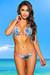 Belize Reversible Swimwear Neon Pink & Blue Hawaii Print Sexy Single Rise Bikini