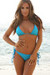 Laguna Solid Turquoise Blue Triangle Bikini Top & Single Rise Scrunch Bottom Swimsuit