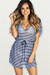 Afterparty Navy Stripes Mesh Hooded Cinch Waist Beach Cover Up