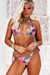 Lilac Tropical Triangle Top & Lilac Tropical Brazilian Thong Bottom