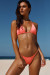 Salmon Triangle Bikini On a Chain Top & Salmon Micro Bikini On a Chain Bottom